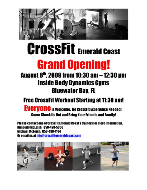 Crossfit emerald coast crossfit emerald coast grand re opening